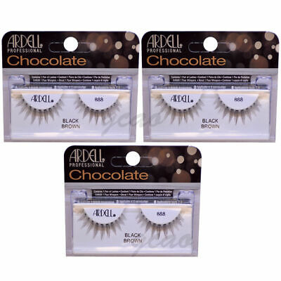 368382b6aa0 3 PACK) ARDELL Professional Lashes Chocolate Black Brown #888 ...