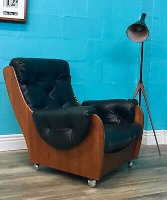 Stylish Vintage Retro Mid Century G Plan Saddle Back Armchair