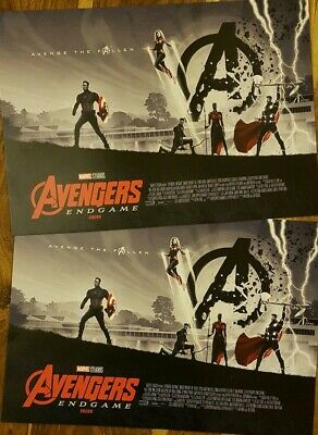 2 x Marvel Avengers Endgame ODEON Exclusive Poster Matt Ferguson,Marvel Studios