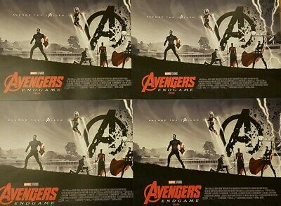4 x Marvel Avengers Endgame ODEON Exclusive Posters Matt Ferguson,Marvel Studios