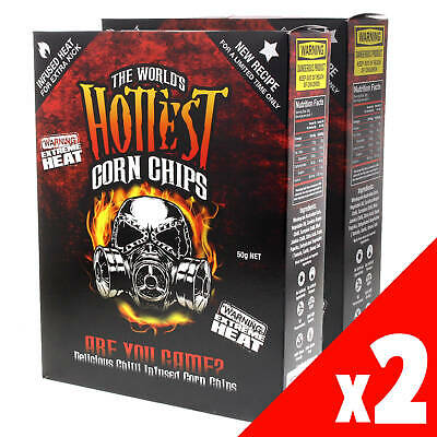 World's Hottest Corn Chips Carolina Reaper & Scorpion Extreme Chilli 2 Pack