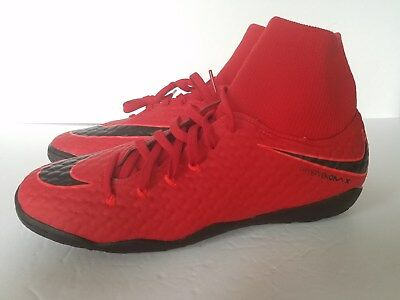 4371ccec1f0a NIKE HypervenomX Phelon 3 DF IC Indoor Soccer Shoes RED NEW 917768-616 sz  8.5
