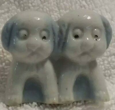 Very old carnival prize, pair of dogs puppies figurine made in Japan