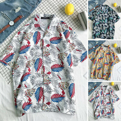 87027caeb Summer Men Hawaiian Shirt Stag Beach Party Holiday Casual Fancy Short  Sleeve Top