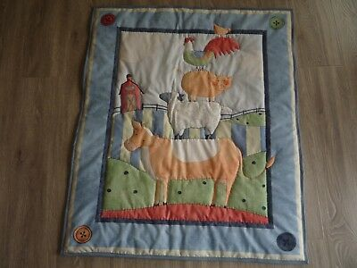 New Handmade Baby/Child Quilt (Blanket)  - Down on the Farm