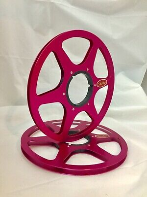 "ONE PAIR   New  10.5"" Anodized  Aluminum metal Reels  Burgundy Red"