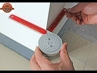 Miter SAW Angle PROTRACTOR Gauge | carpenters plumbers Ruler Tool Free Shipping