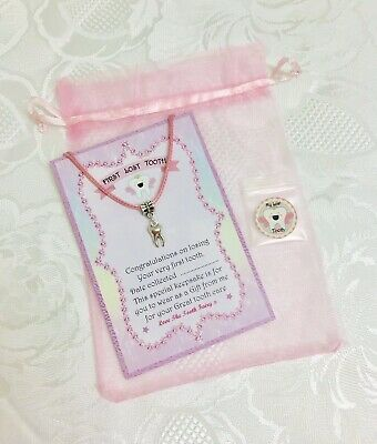 Tooth Fairy  My First Lost Tooth Necklace - Great Gift Idea From The Tooth Fairy