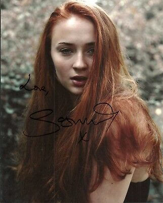 SOPHIE TURNER -GAME OF THRONES - X-MEN JEAN GREY- 8x10 Signed Photo Autograph
