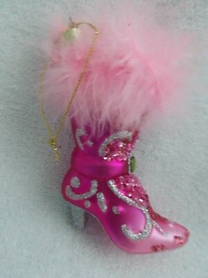 Katherine's Collection Pink Boot Shoe Christmas Ornament