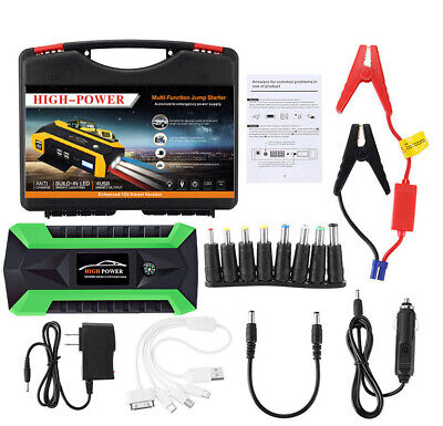 89800mAh Car Jump Starter Pack Booster 4 USB Charger Battery Power Bank 12V