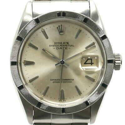 Rolex Oyster Perpetual Date Vintage Men's Watch Antique 1952Overhauled Good+++