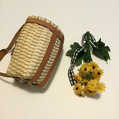 American Girl Doll Samantha Retired Nature Paraphernalia Wicker Backpack ONLY