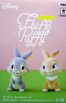 Disney Characters Fluffy Puffy / Bambi / Thumper & Miss Bunny / 100% Authentic!!