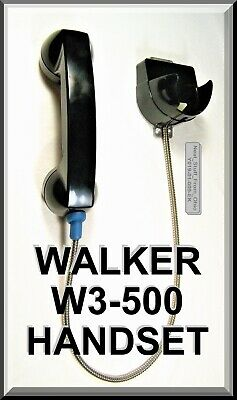 Walker Equipment W3-500 Wall Mounted Handset, Cradle & Armored Cable: Brand New