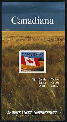 Canada 1192a Booklet BK114b MNH Flags (building at left, no tag on right)