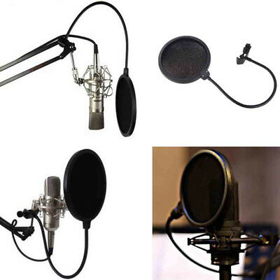 Record Studio Microphone Mic Windscreen Pop Filter Mask Shield with Double Layer
