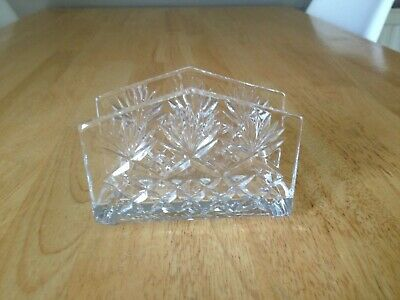 Cut Glass Crystal Letter Rack
