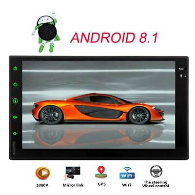 "7"" Android 8.1 Oreo Double 2Din InDash Car GPS Navigation Stereo Radio OBD2 BT"