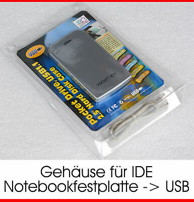 USB External HDD Case + Cable Adapter by Ide 44pin Pata HDD Hard Drive to USB