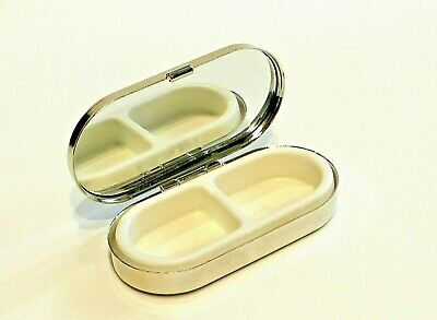 Pastillero Pill Box Two Compartments With Mirror New