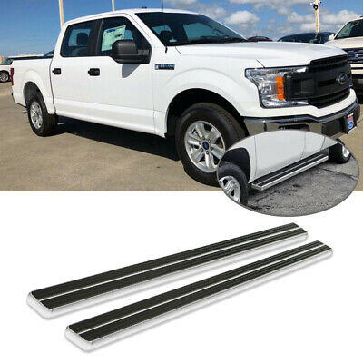 """1x Pair AS-200 Bully Ford F150 F250 F350 10/"""" Aluminum Bolt On Non Slip Side Step"""