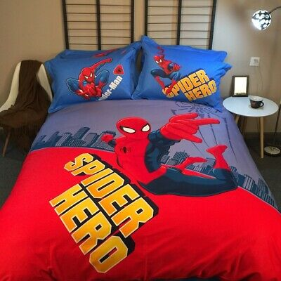 Hot! SPIDERMAN DUVET COVER SETS KIDS BOYS BEDDING  –  JUNIOR, SINGLE, DOUBLE