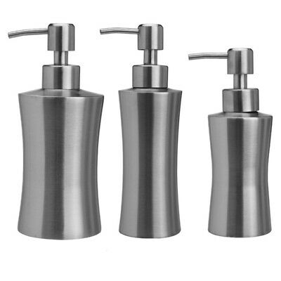 304 Stainless Steel Soap Dispenser Hand Sanitizer Bottle for Bathroom Kitchen US