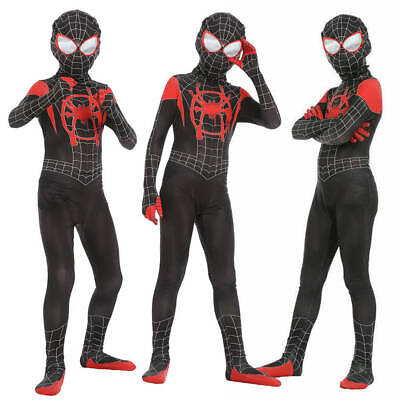 Spider-Man Into the Spider-Verse Miles Morales Kids Cosplay Costume Zentai Suit
