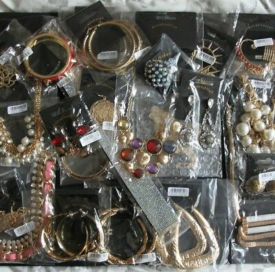 Job Lot Wholesale Fashion Costume Jewellery Earrings Necklaces All New With Tags