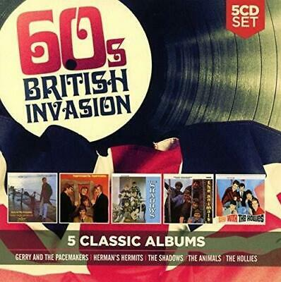 60'S BRITISH INVASION - 5 CLASSIC ALBUMS 5CDs (NEW/SEALED) The Animals Hollies