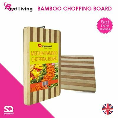 Extra Thick Bamboo Wooden Dicing Slicing Cutting Chopping Board & Serving Tray