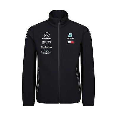NEW 2019 Mercedes AMG F1 Lewis Hamilton Team SOFTSHELL Jacket Coat Mens OFFICIAL