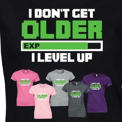 I DON/'T AGE I LEVEL UP MENS T-SHIRT FUNNY GAMER PS4 GAMING XBOX GIFT PRESENT
