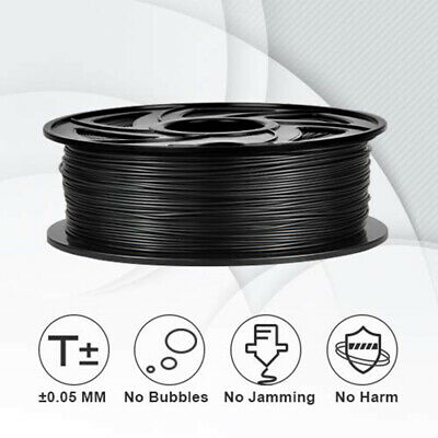 Black PLA Filament for 3D Printer 1.75mm 1kg Spool Drum Roll Stretchy & Flowable