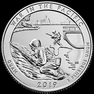 "A 2019 P ""War in the Pacific"" Guam National Park Quarter US Mint ""BU"" ATB"