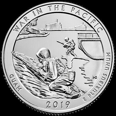 "2019 S ""War in the Pacific"" Guam National Park Quarter US Mint ""BU"" ATB"