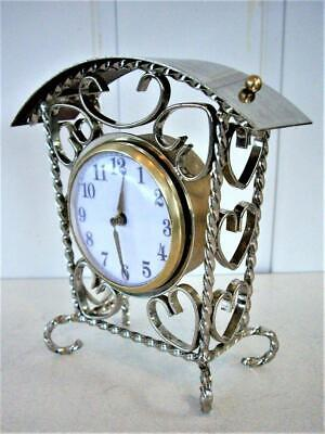 Vintage Chrome Plated Mechanical Clock - Restored
