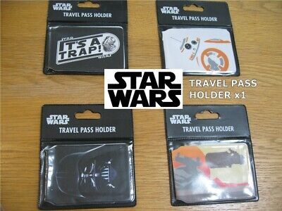 Genuine TITAN Star Wars  ID Card Holder Travel Pass / Oyster - Various VADER BB8