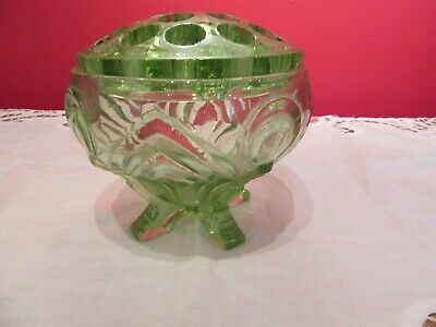 Glass Davidson Antique Cloud Glass Vase Complete With Frog We Take Customers As Our Gods Art Glass