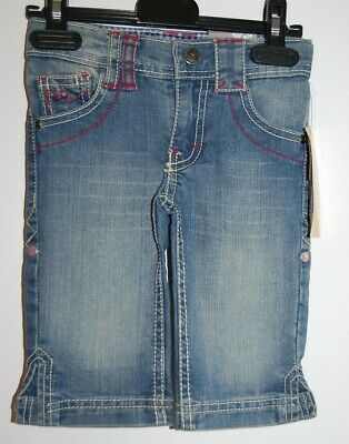 Baby Girl Denim Slim Crop Trousers Jeans Gorgeous Elasticated Age 18-24 Months
