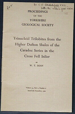 TRILOBITES FROM YORKSHIRE ENGLAND Trinucleoid Trilobites RARE 1961 Bulletin
