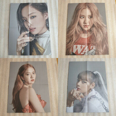 BLACKPINK KILL THIS LOVE 2nd Mini Album BLACK Ver. Folded Poster Only Select