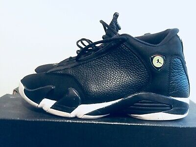 the latest 0d8db 10a4c 2016 Men s Nike Air Jordan XIV Indiglo Black White Green Size 10 Used NDS  Rare