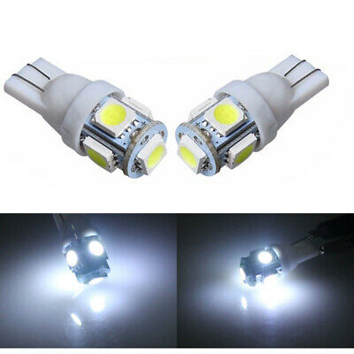 50X  Super White T10 Wedge 5-SMD 5050 LED Light bulbs W5W 2825 158 192 168 194