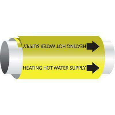 Qty 10 SETMARK - Snap-Around Pipe Markers - Heating Hot Water Supply