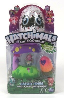 NEW Hatchimals Fabula Forest Egg Hatching Colleggtibles Season 4 Hatchy Home