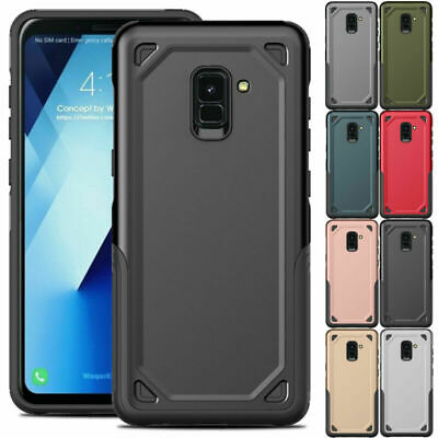Shockproof Bumper Hybrid Rubber Armor Case Cover For Samsung Galaxy A8 Plus 2018