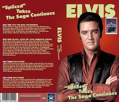 ELVIS PRESLEY - SPLICED TAKES -THE SAGA CONTINUES  - Rock 'n' roll Majesty Label