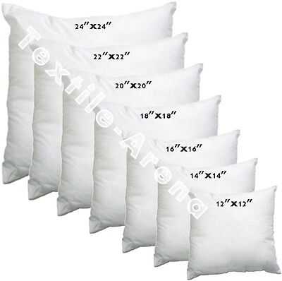 """Cushion Inner Pads Inserts Fillers 12"""" 14"""" 16"""" 18"""" 20"""" 22"""" Hollow Fibre Inners"""